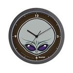 The Visitor (Gray) Wall Clock