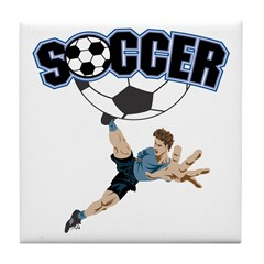 Soccer Kick Tile Coaster