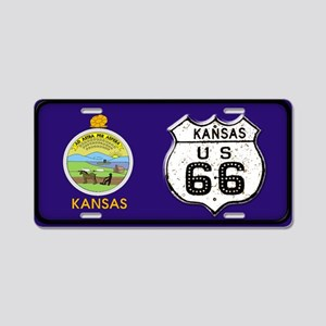 66KSFlag LP Aluminum License Plate