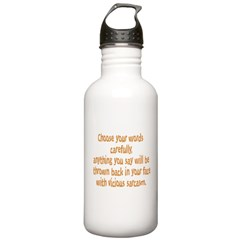 Choose your Words Water Bottle