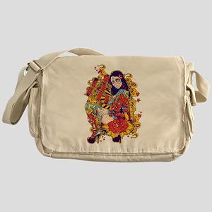 Tattooed Dirty Girl Messenger Bag