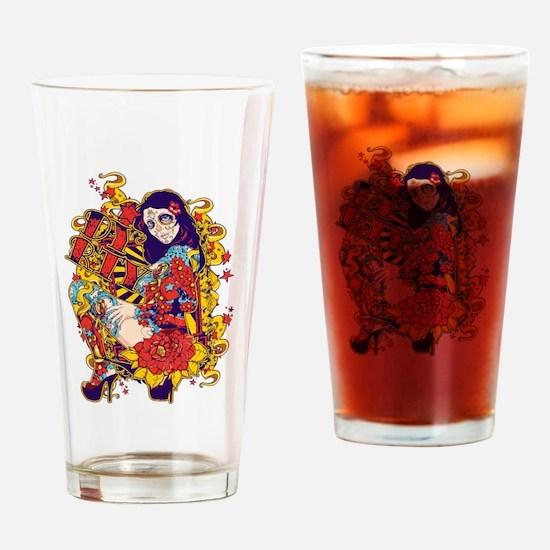 Tattooed Dirty Girl Drinking Glass