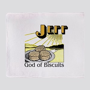 Jeff, God of Biscuits Throw Blanket