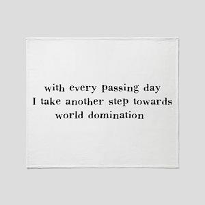 World Domination Throw Blanket