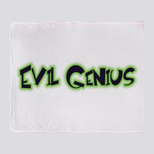 Evil Genius Throw Blanket