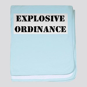 Explosive Ordinance baby blanket