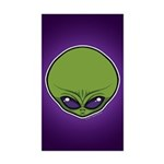 The Visitor (Green) Sticker (Rectangle 10 pk)