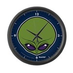 The Visitor (Green) Large Wall Clock