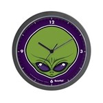 The Visitor (Green) Wall Clock