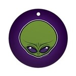 The Visitor (Green) Ornament (Round)