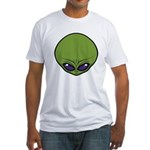 The Visitor (Green) Fitted T-Shirt