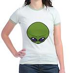 The Visitor (Green) Jr. Ringer T-Shirt