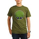 The Visitor (Green) Organic Men's T-Shirt (dark)