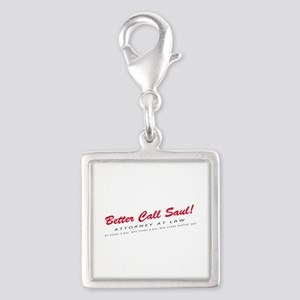 'Better Call Saul!' Silver Square Charm