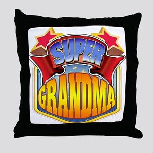 Super Grandma Throw Pillow