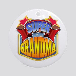 Super Grandma Ornament (Round)