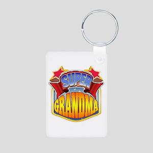 Super Grandma Aluminum Photo Keychain