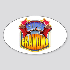Super Grandma Sticker (Oval)