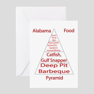 Alabama Food Pyramid Greeting Card