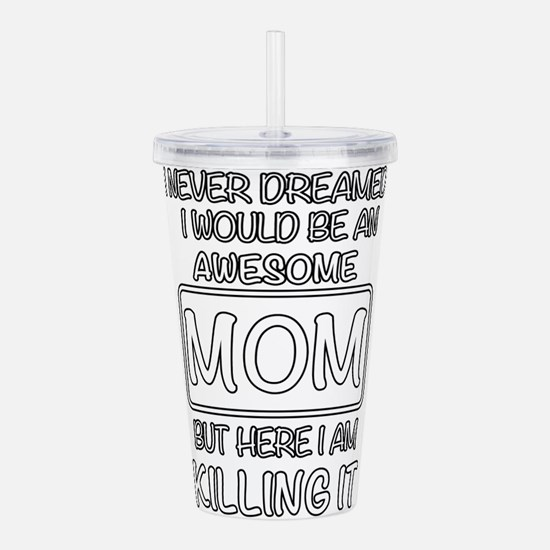 Awesome Mom Acrylic Double-wall Tumbler