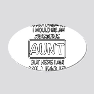 Awesome Aunt Wall Decal