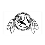 Tribal Bear Claw 35x21 Wall Decal