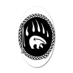 Tribal Bear Claw 20x12 Oval Wall Decal