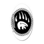 Tribal Bear Claw 20x12 Oval Wall Decal