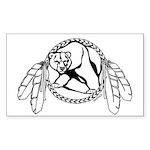 Native Bear Art Sticker Tribal Art Stickers 10 pk
