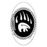 Tribal Bear Claw Sticker (Oval 10 pk)