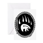 Tribal Bear Claw Greeting Cards (Pk of 10)