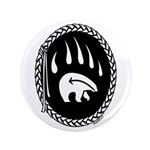 Tribal Art Button First Nations Bear Art Button