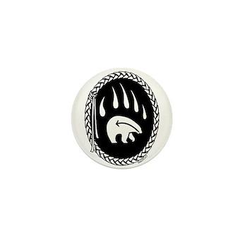Tribal Art Button First Nations Bear Button 100 pk