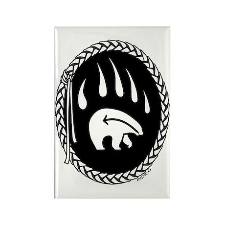 Tribal Art Button First Nations Bear Button 10 pk