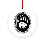 Tribal Bear Claw Round Ornament