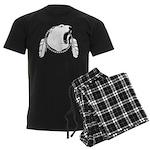 Tribal Bear Art Men's Dark Pajamas