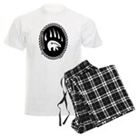 Tribal Bear Art Men's Light Pajamas