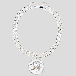 Daisy Maid of Honor Charm Bracelet, One Charm