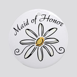 Daisy Maid of Honor Ornament (Round)
