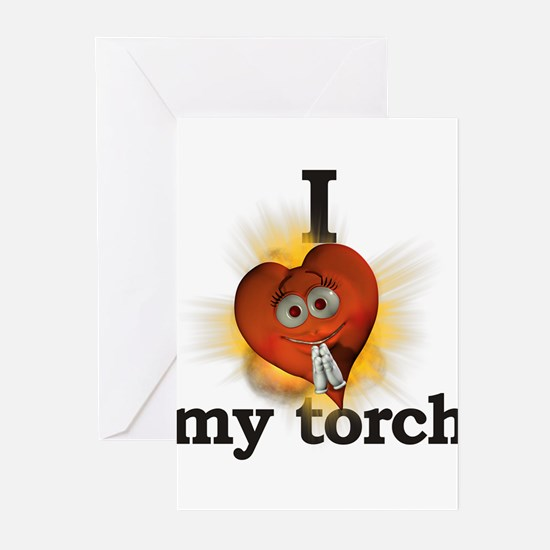 I heart / love my torch Greeting Cards (Package of
