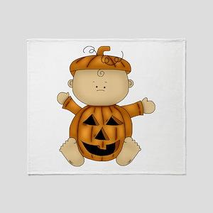 Cute Pumpkin-Baby Throw Blanket