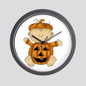 Cute Pumpkin-Baby Wall Clock