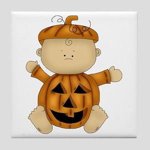 Cute Pumpkin-Baby Tile Coaster