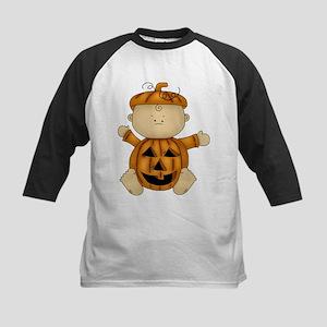 Cute Pumpkin-Baby Kids Baseball Jersey