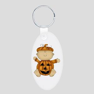 Cute Pumpkin-Baby Aluminum Oval Keychain
