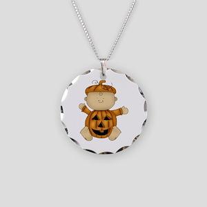 Cute Pumpkin-Baby Necklace Circle Charm