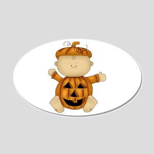 Cute Pumpkin-Baby 22x14 Oval Wall Peel