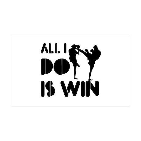 All I do is Win Kickboxing 38.5 x 24.5 Wall Peel