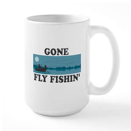 Gone Fly Fishin' Large Mug