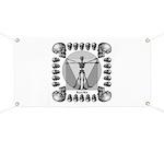 leonardo skull Banner